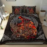 Wolf Viking Celtic Warrior Duvet Cover Bedding Set #V