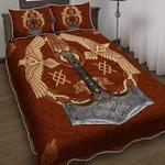 Viking Ravens of Odin Tattoo Duvet Cover Bedding Set #V