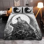 Viking Norse mythology Nordic Wolf Tattoo Quilt Bed Set #V