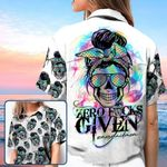 Zero Fucks Given Skull Mermaid Mom Hawaiian Aloha Shirts #KV