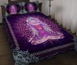 Yoga Meditation Girl Personalized Name Duvet Cover Bedding Set #H