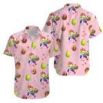 Unicorn Rainbow Dab love eggs Happy Easter Day Hawaiian Aloha Shirts #V