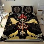 Viking Vegvisir Raven Duvet Cover Bedding Set #H