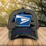 Amazing vintage USPS postal worker crack carbon classic cap hats head wear