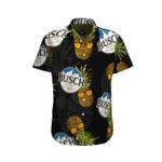 Pineapple Busch light black orange Hawaiian Aloha Shirts