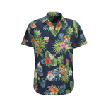 Pineapple Busch Light tropical hawaiian aloha shirts