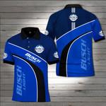 Busch light Blue Polo Shirt #KV