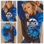 Busch light Tie dye hoodie 3d #KV