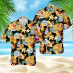 Pineapple Busch Light black hawaiian aloha shirts