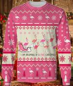 I'm Dreaming Of A Pink  Flamingo Christmas Sweater #KV