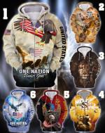 One Nation Under God Jesus hoodie 3d #KV