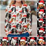 Xmas Santa Dog Breed sweater #KV