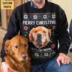 Custom Photo Ya Filthy Animal Dog Lover Christmas Sweater #KV