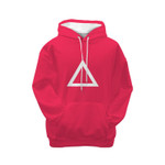 Pinky Girl Player Triangle Squid Game Hoodie 3D