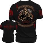 Death smiles at Us All, but a Few of Us Smile Back Unisex AOP T-Shirt 3D #KV