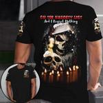 Skull Santa I Regret Nothing Christmas Unisex AOP T-shirt