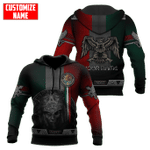 Mexico Aztec Warrior Day Of The Dead Custom Name Hoodie 3D