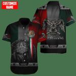 Hawaiian Aloha Shirts Mexico Aztec Warrior Day Of The Dead Custom Name
