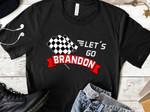 Let's Go Brandon Checker Flag Unisex T-Shirt 2D #KV