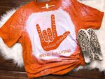 Orange Unity Day Anti Bullying Love Sign Language Bleached T-shirt 2D #KV