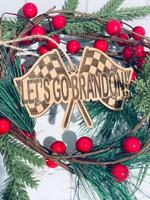 Let's Go Brandon Christmas Hanging Ornament #KV