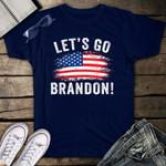 Let's Go Brandon US Flag Vintage Unisex T-Shirt 2D #KV