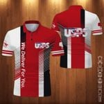 USPS Red We Deliver For You Polo Shirt
