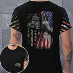 Veteran Jeep Flag Unisex AOP T-shirt