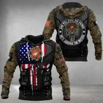 US Marine Punisher Skull God Will Judge Our Enemies Hoodie 3D