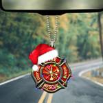 Firefighter Santa Christmas Ornament