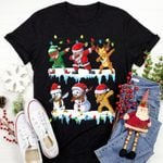 Dabbing Santa Elf Friends Christmas Unisex T-Shirt #Lk