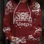 Jeep Red Leopard Hoodie 3D