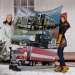 Trucker love truck 3D Fleece Blankets #V