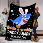 Daddy Shark Easter Egg Custom Blanket #H