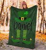Irish Pride Happy St. Patrick's Day Elf Custom Name Blanket