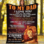 Father's Day Gift To my Dad You are the world Lion blanket - Father's Day #0306h