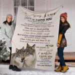 Wolf couple To my wife just to say I love you gift for valentine day Fleece Blankets #V