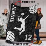 Custom Blankets Volleyball Player with Name #1402v