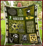 I'd rather be playing Soccer Green Fleece Blanket