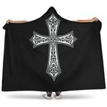 Jesus Cross Christian Gift Hooded Blanket