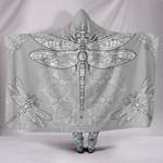 Hippie Dragonfly Grey Hooded Blanket