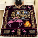 Flamingo Husband and Wife Camping Lover Quilt Blanket #HL