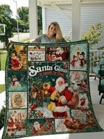 Santa Claus Is Coming To Town Christmas Quilt Blanket #DH
