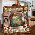 Vintage Owl Quilt Blanket #DH