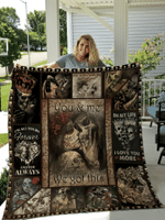 To My Love You And Me We Got This Skull Couple Quilt Blanket #H