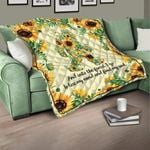 Customized Quote Sunflower Bigfoot Quilt Blanket #DH