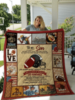 Father's Day Gift Gift for Mother To My Son Football Mom Quilt Blanket #DH