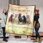 God say you are Labrador Quilt Blanket for Dog Lover