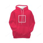 Pinky Girl Player Square Squid Game Hoodie 3D