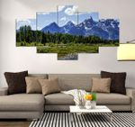 Grand Teton Beautiful Place 5 Pieces Canvas Wall Art Home Decor 26